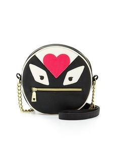 Betsey Johnson Monster Love Faux-Leather Canteen Bag