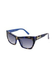 Betsey Johnson multi brown and blue squared sunglasses