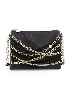 Betsey Johnson Multi Chain Crossbody Bag, Black