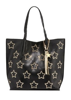 Betsey Johnson Night Lights Star-Studded Tote Bag