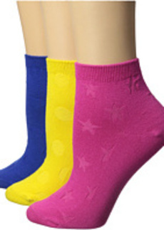 Betsey Johnson No Show Colorful Socks 3-Pack