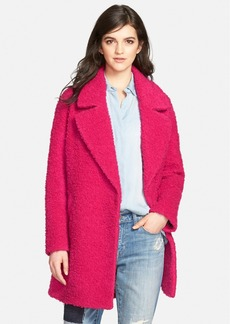 Betsey Johnson Notch Collar Bouclé Coat