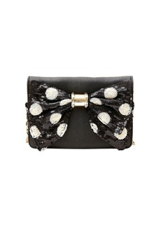 BETSEY JOHNSON Oh Bow Crossbody Clutch