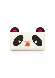 Betsey Johnson Panda Faux-Leather Wallet-On-Strap