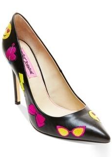 Betsey Johnson Papii Emoji Pumps Women's Shoes