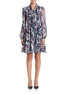 BETSEY JOHNSON Patterned Fit-and-Flare Dress