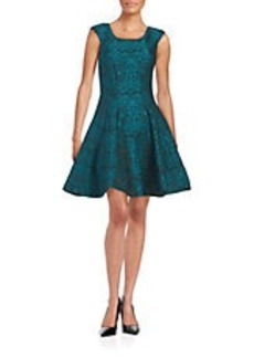 BETSEY JOHNSON Patterned Fit-and Flare Dress