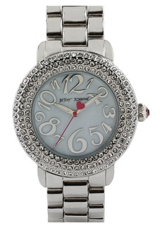 Betsey Johnson Pavé Bezel Bracelet Watch, 42mm