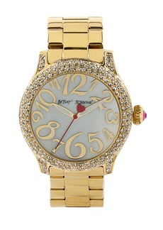 Betsey Johnson Pavé Case Bracelet Watch, 41mm