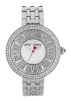 Betsey Johnson Pavé Dial Bracelet Watch, 43mm