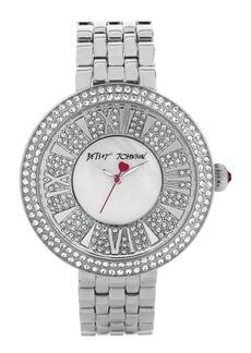 Betsey Johnson Pavé Dial Bracelet Watch, 43mm