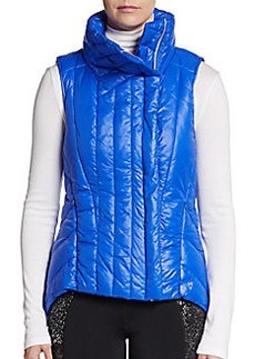 Betsey Johnson Performance Asymmetrical Puffer Performance Vest