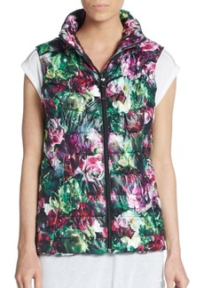 Betsey Johnson Performance Floral Print Stitched Down Vest