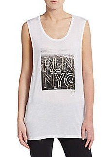 Betsey Johnson Performance Run NYC Muscle Tank Top