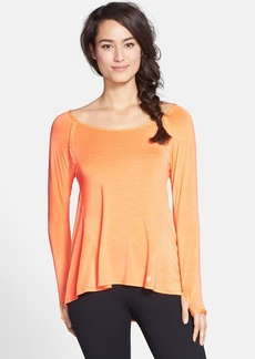 Betsey Johnson Performance Space Dye Ballet Neck Tee