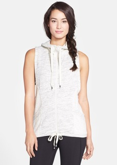 Betsey Johnson Performance Space Dye French Terry Hooded Vest