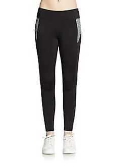 Betsey Johnson Performance Space-Dyed Inset Leggings