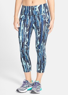 Betsey Johnson Performance 'Splash' Print Crop Leggings