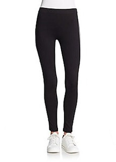 Betsey Johnson Performance Stripe-Trim Performance Leggings
