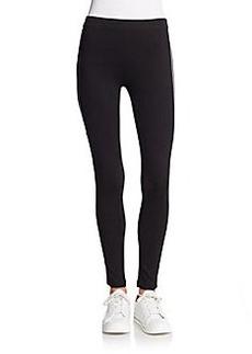 Betsey Johnson Performance Stripe-Trim Performance Leggings