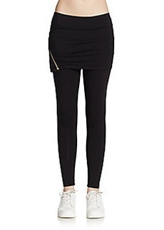 Betsey Johnson Performance Zip-Trim Skirted Leggings