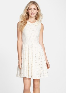 Betsey Johnson Peter Pan Collar Lace Fit & Flare Dress