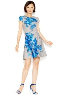 Betsey Johnson Placed-Floral A-Line Dress