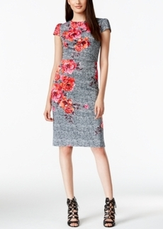 Betsey Johnson Placed Floral Midi Dress