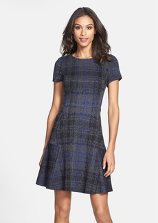 Betsey Johnson Plaid Fit & Flare Sweater Dress (Online Only)
