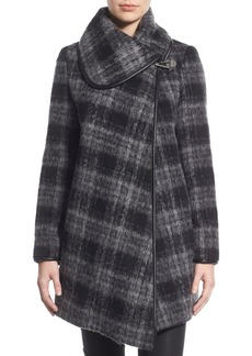 Betsey Johnson Plaid Turnlock Coat