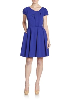 Betsey Johnson Pleated A-Line Pocket Dress
