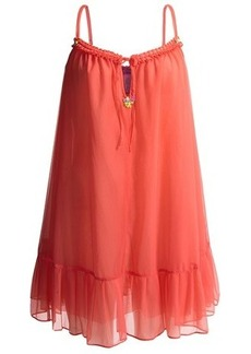 Betsey Johnson Pleated Slip - Nylon Chiffon, Spaghetti Straps (For Women)