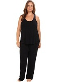 Betsey Johnson Plus Rayon Knit Pajama Set