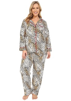 Betsey Johnson Plus Size Animal Print Pajama Set