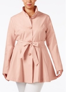 Betsey Johnson Plus Size Belted Trench Coat