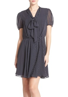 Betsey Johnson Polka Dot Chiffon Blouson Dress