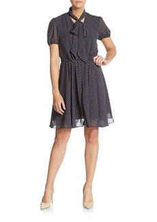 Betsey Johnson Polka Dot Chiffon Dress