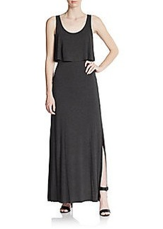 Betsey Johnson Popover Cutout Back Maxi Dress