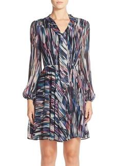 Betsey Johnson Print Chiffon Fit & Flare Dress