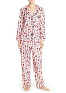 Betsey Johnson Print Flannel Pajamas