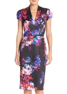 Betsey Johnson Print Scuba Midi Dress