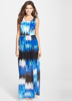 Betsey Johnson Print Stretch Maxi Dress
