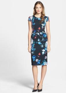 Betsey Johnson Print Stretch Midi Dress
