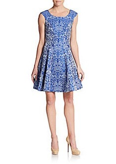 Betsey Johnson Printed Fit-And-Flare Dress