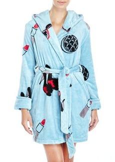 betsey johnson Printed Plush Robe