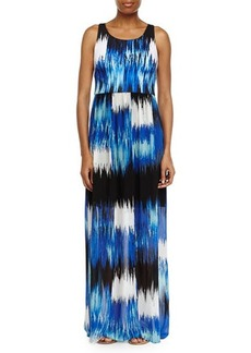 Betsey Johnson Printed Racerback Maxi Dress