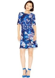 Betsey Johnson Printed Scuba A-Line Dress