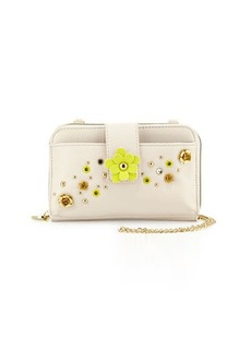 Betsey Johnson Pushing Daisies Tech Case Crossbody Bag