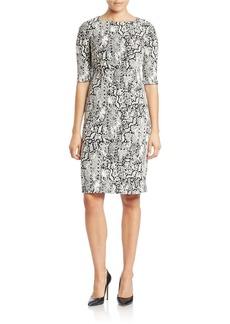 BETSEY JOHNSON Python-Print Sheath Dress