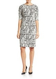 BETSEY JOHNSON Python-Print Sheath Dress